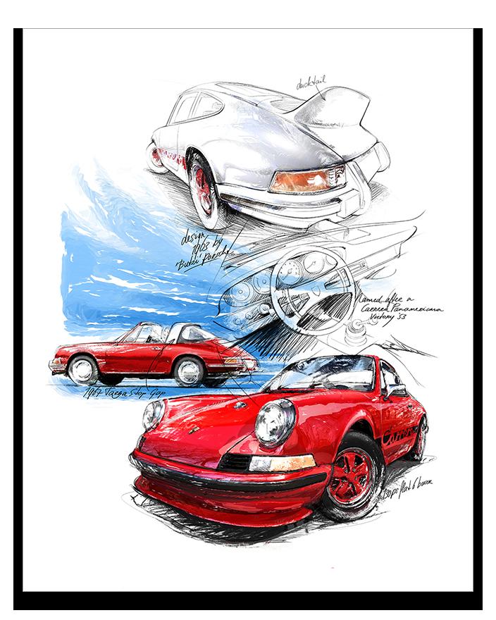 Porsche 911 Carrera 1963 Classic Car Art