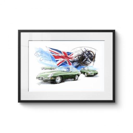 Jaguar E-type Zwarte lijst