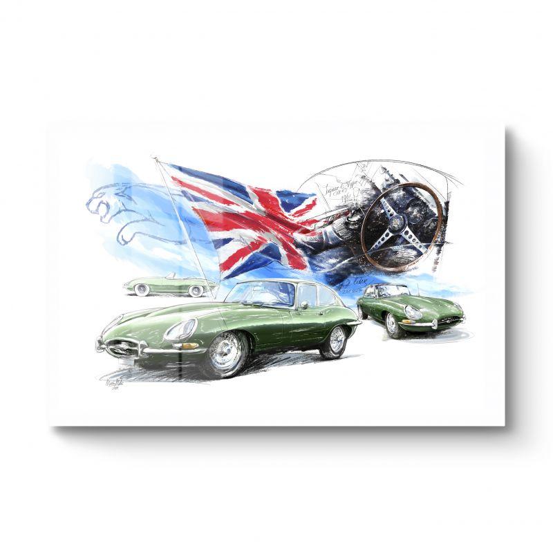 Jaguar E-type HD-metal